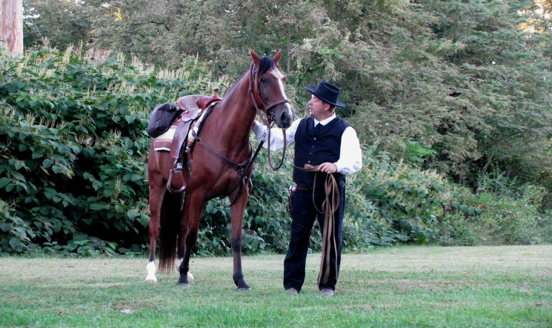 preacher with horse